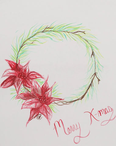 Holiday Wreath Watercolor Painting Kit & Lesson