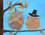 Hoot's First Thanksgiving Acrylic Paint & Sip Kit