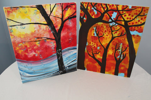 """Tree Wonder"" Duo Set - Paint & Sip Kits"