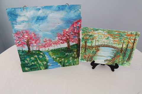 """Spring & Autumn Delight"" Duo Set - Paint & Sip Kits"