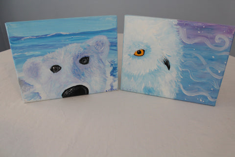 """Winter Buddies"" Duo Set - Paint & Sip Kits"