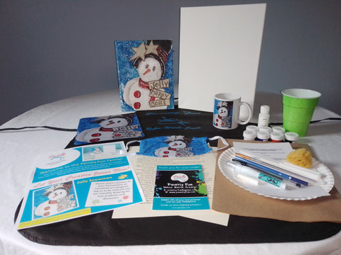 Jolly Snowman - Mixed Media Paint & Sip Gift Set