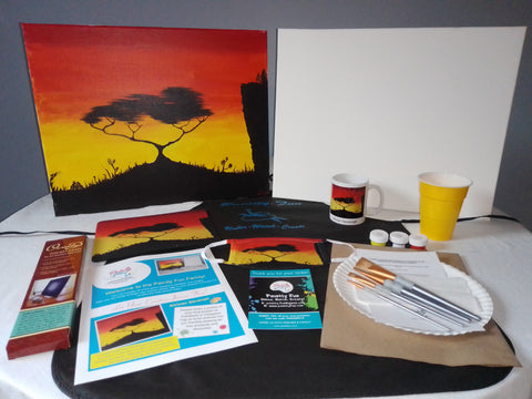 African Savannah - Acrylic Paint & Sip Gift Set