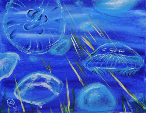Jellyfish Party Acrylic Painting Kit & Video Lesson