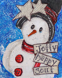 "Party Kit - ""Jolly Snowman"" - Mixed Media Kit & Video Lesson"