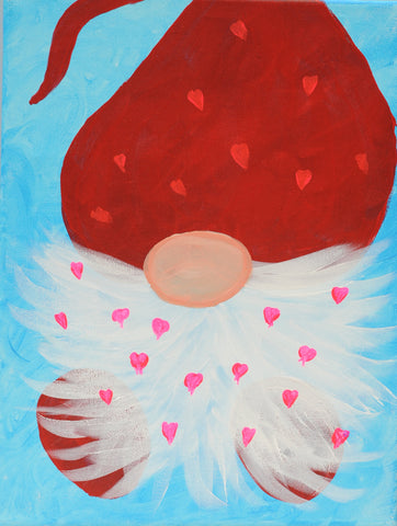 Lovey Dovey Gnome Acrylic Paint & Sip Kit