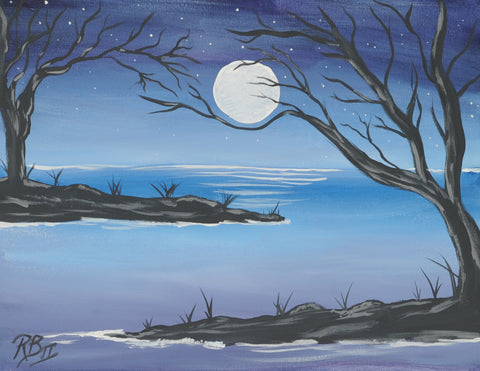 Moon River Acrylic Paint & Sip Kit