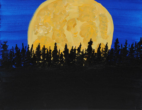 Midnight On The Pines Acrylic Paint & Sip Kit
