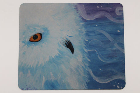 Snow Owl - Mouse Pad