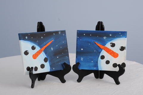 Mr. and Mrs. Snowy Christmas Paint & Sip Kit