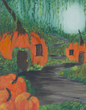 Mystical Pumpkin Village Paint & Sip Party Kit