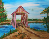 Old Covered Bridge Acrylic Painting Kit & Lesson