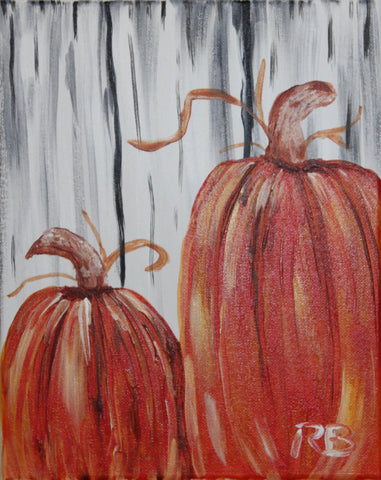 Pumpkin Display Acrylic Painting Kit & Lesson