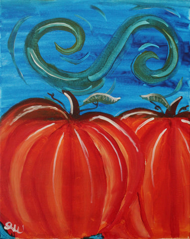 Pumpkin Patch Acrylic Painting Kit & Lesson