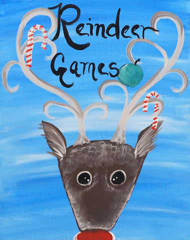 Reindeer Games Christmas Paint & Sip Kit