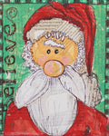 Santa Is Coming Mixed Media Kit & Lesson