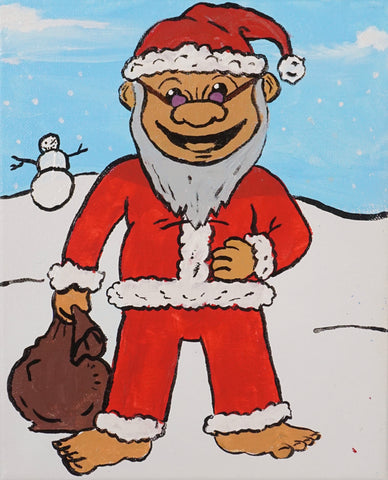 Santa Troll Acrylic Painting Kit & Lesson