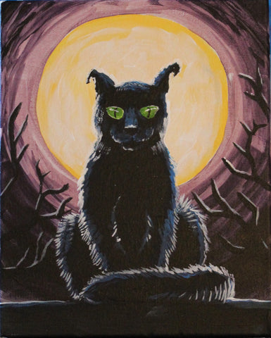 Shadow of the Night Acrylic Painting Kit & Lesson