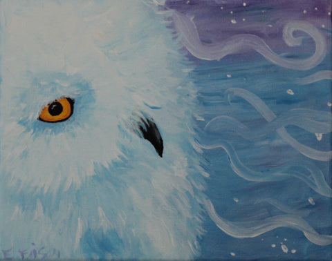 "Party Kit - ""Snow Owl"" - Acrylic Painting Kit & Lesson"