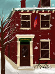 Snowy Brownstone Acrylic Painting Kit & Video Lesson