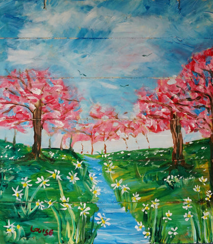 Springtime Delight Acrylic Painting Kit & Lesson