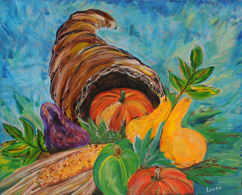 Thanksgiving Feast Acrylic Paint & Sip Kit