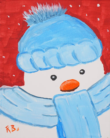 "Party Kit - ""The Chilly Snowman"" -  Acrylic Painting Kit & Lesson"