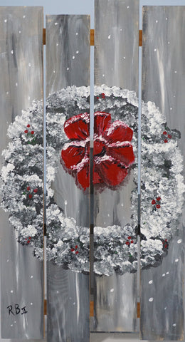 The Winter Wreath Acrylic Painting Kit & Lesson