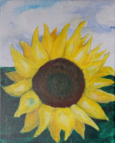 The Happy Sunflower Acrylic Painting Kit & Lesson