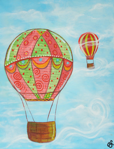 Up Up and Away Mixed Media Paint & Sip Kit