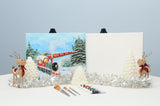 The Winter Express Acrylic Paint & Sip Kit