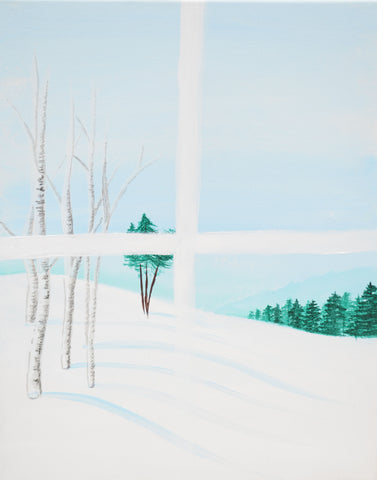 Winterland View Acrylic Paint & Sip Kit & Video Lesson