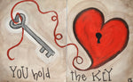 You Hold The Key Acrylic Paint & Sip Kit