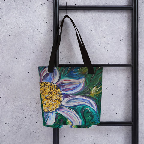 Breezy Flower Tote Bag