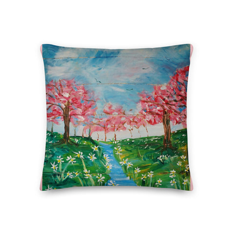 Springtime Delight Premium Pillow