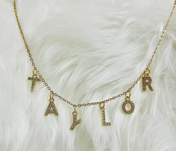 Rhinestone Name Necklace