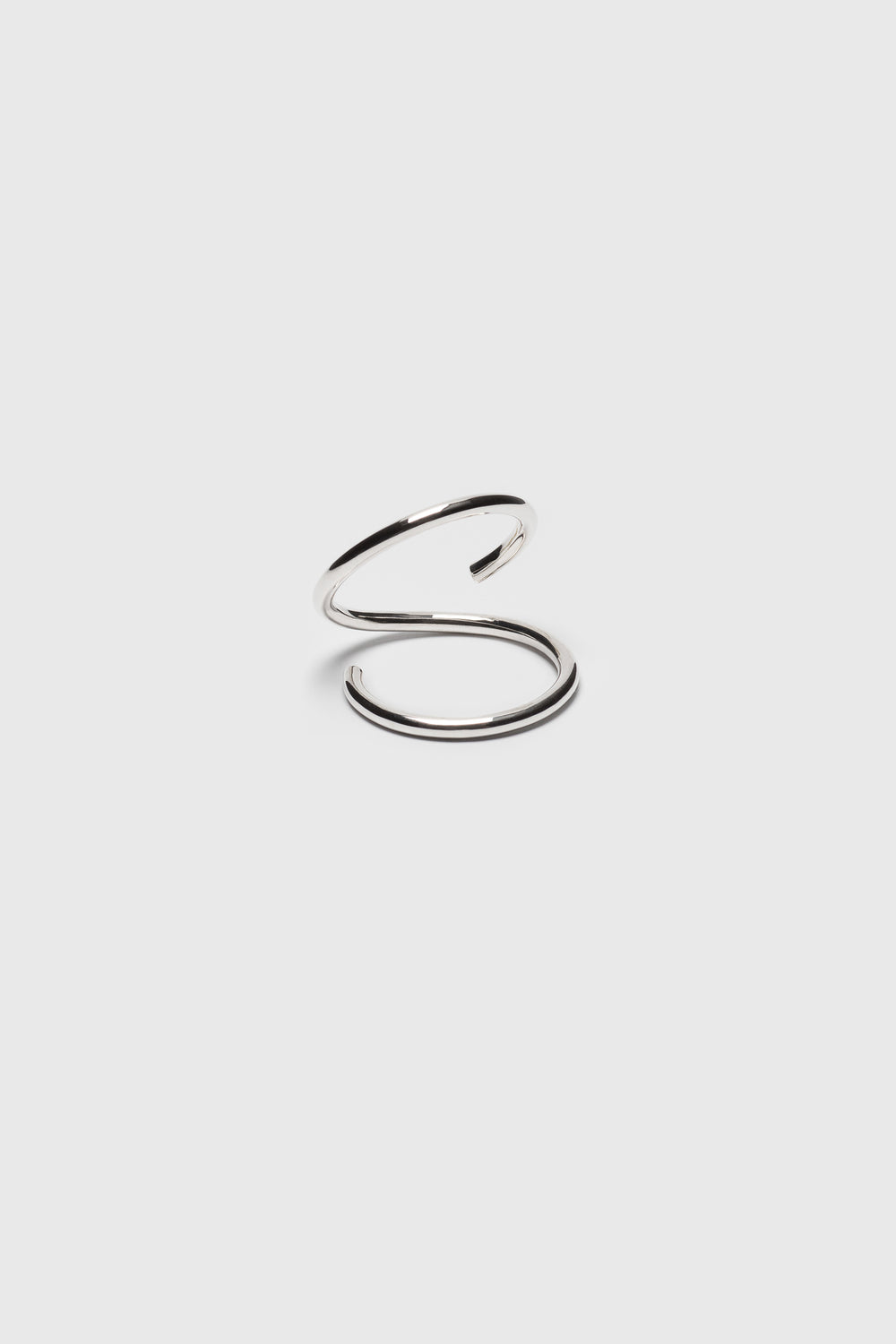 Open spiral ring. Silver jewelry handmade in Berlin.