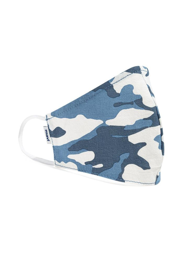 Men's Face Mask in Indigo Camo
