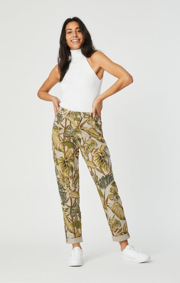 Denise High Rise Cargo Pant in Safari Twill - Mavi Jeans