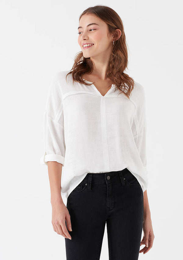 Womens White Blouse - Mavi Jeans