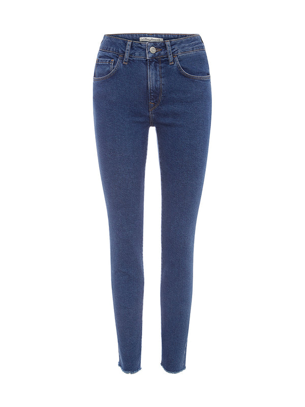 ALISSA Ankle High Rise Skinny Ankle Deep 90s Cut Off Denim - Mavi Jeans