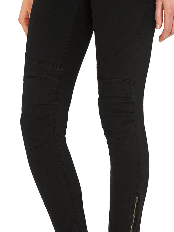 Jesy Low Rise Skinny Ankle Biker Jeans Washed Black Twill - Mavi Jeans
