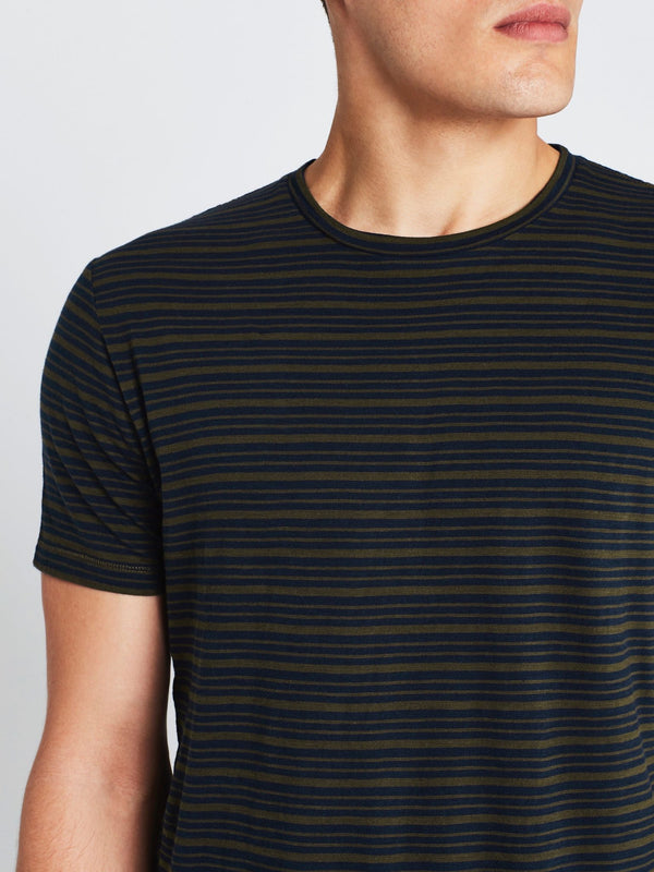 Liam Short Sleeve T-Shirt Navy Military Stripe - Mavi Jeans
