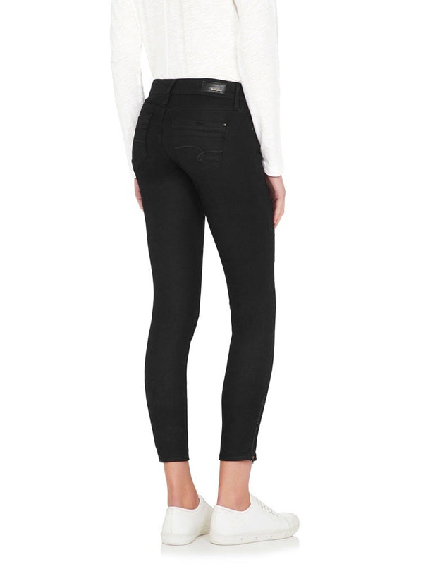 Jesy Low Rise Skinny Ankle Biker Jean Black Gold Reform (Coated) - Mavi Jeans
