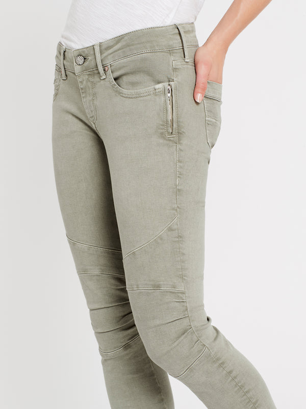 Jesy Skinny Ankle Biker Jeans in Shadow Washed Stretch - Mavi Jeans