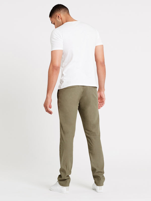 Johnny Slim Chino Khaki Sateen Twill - Mavi Jeans