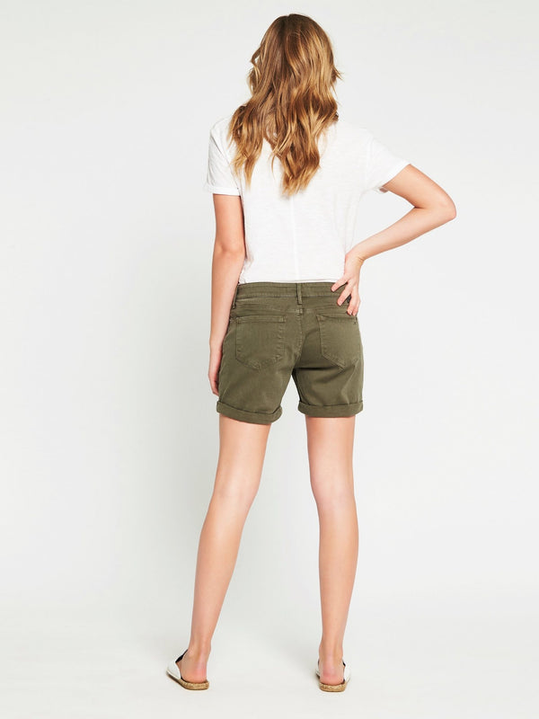 Pixie Boyfriend Shorts in Military Twill - Mavi Jeans