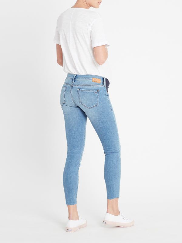 Reina Ankle Skinny Maternity Jeans in Light Ripped Vintage - Mavi Jeans