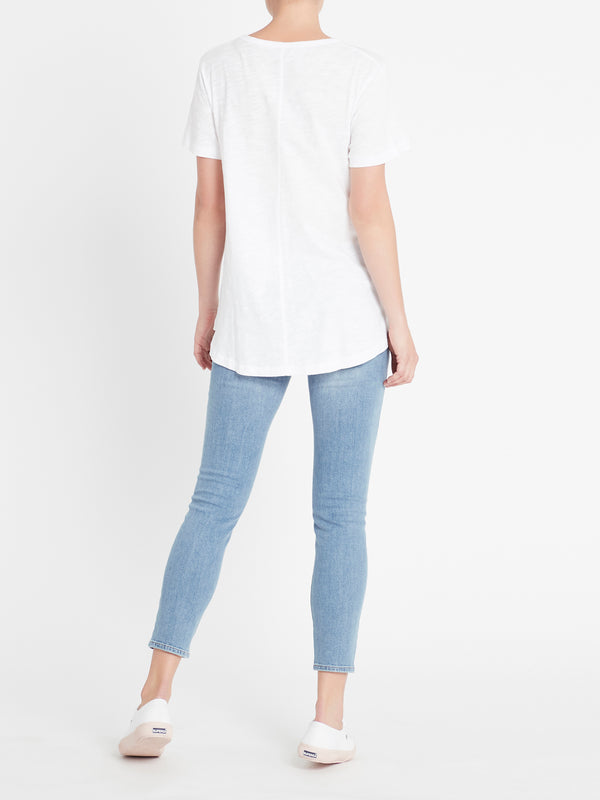 Mae Maternity T-Shirt in White - Mavi Jeans