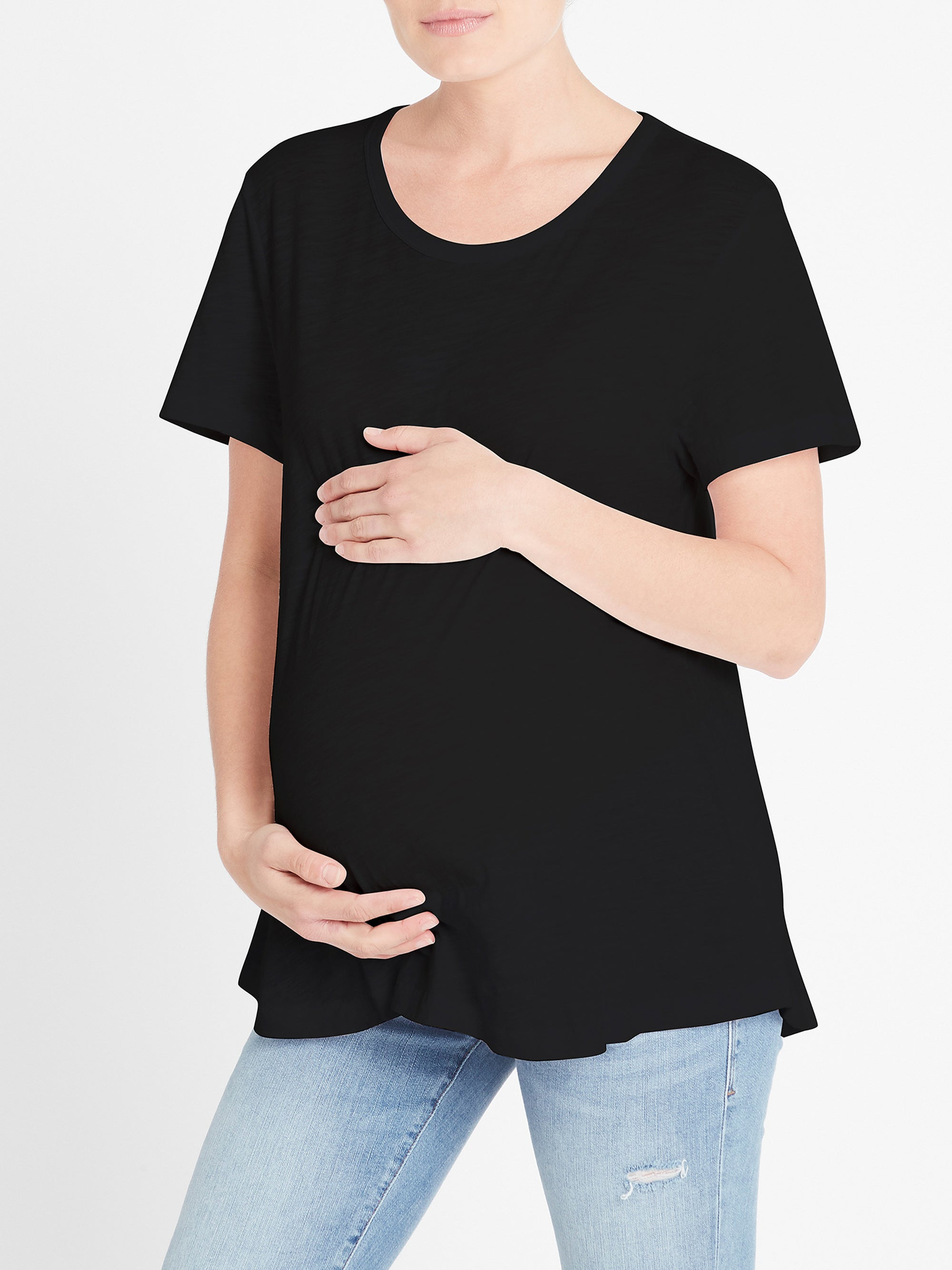 Mae Maternity T-Shirt in Black